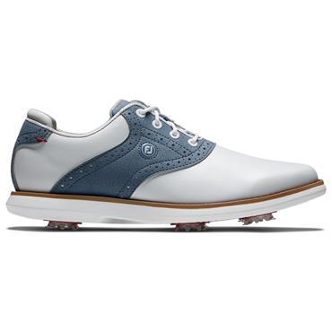 FootJoy Ladies FJ Traditions Shoes Wide-Fit White - Blue