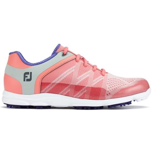 great fit new & pre-owned designer best quality FootJoy Ladies Sport Golf Shoes Wide Fit Pink - Blue