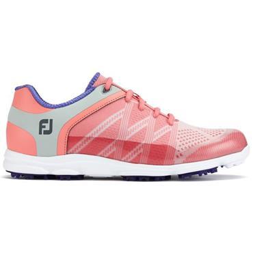 FootJoy Ladies Sport Golf Shoes Wide Fit Pink - Blue