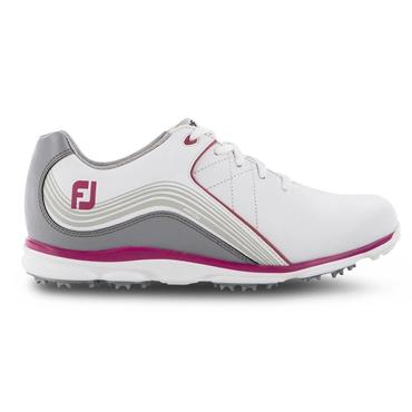 FootJoy Ladies Pro SL Shoes Wide Fit White - Grey - Fuchsia