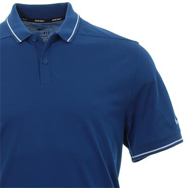 Nike Gents Dri-Fit Polo Shirt Gym Blue