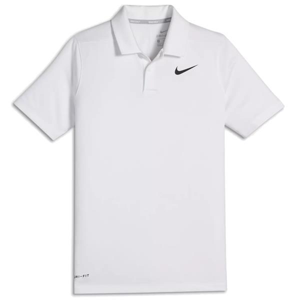 1f6f6651 Nike Junior - Boys Dry-Fit Victory Polo Shirt White | Golf Store