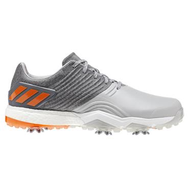 adidas Gents Adipower 4 Golf Shoes Grey - Orange