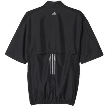 adidas Gents Short Sleeve Club Wind Jacket Black