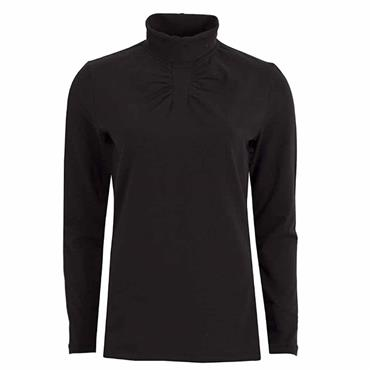 Green Lamb Ladies Ruth Roll Neck Black