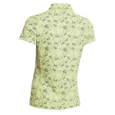 Green Lamb Ladies Priscilla Printed Polo Shirt Lemon - Navy