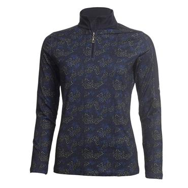 Green Lamb Ladies Rena 1/2 Zip Printed Top Navy