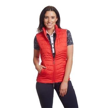 Green Lamb Ladies June Padded Gilet Rouge