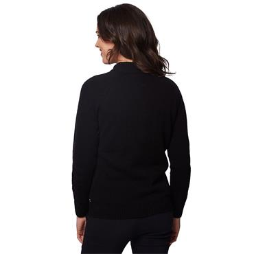 Green Lamb Ladies Gigi SuperWool ½ Zip Sweater Black
