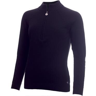 Green Lamb Ladies Gigi SuperWool ½ Zip Sweater Navy