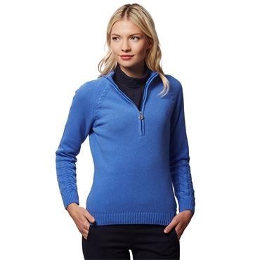 Green Lamb Ladies Gigi SuperWool ½ Zip Sweater Sky Blue