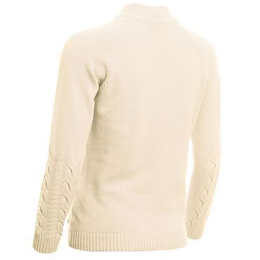 Green Lamb Ladies Gigi SuperWool ½ Zip Sweater Winter White