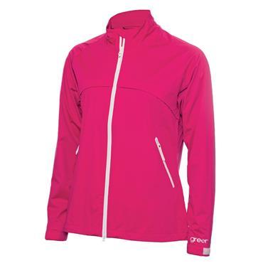 Green Lamb Ladies Gala Waterproof Jacket Cerise