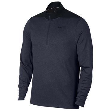 Nike Gents Dry Core 1/2 Zip Top Obsidian Blue - Black 453