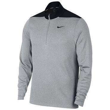 Nike Gents Dry 1/2 Zip Core Top Wolf Grey