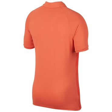 Nike Gents Zonal Cooling Stripe Polo Shirt Coral (816)