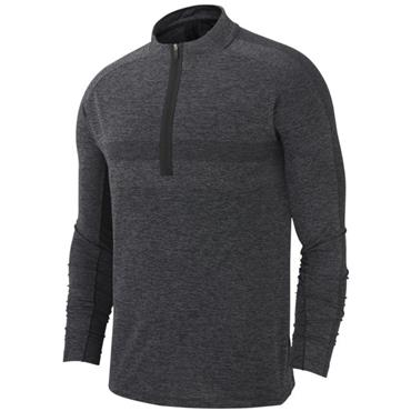 Nike Gents Dri-Fit 1/2 Zip Seemless Top Black