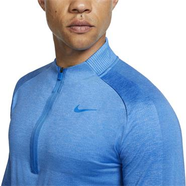Nike Gents Dri-Fit 1/2 Zip Top Blue