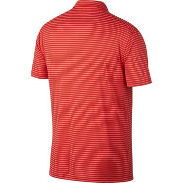 Nike Gents Dri Fit Essential Stripe Polo Shirt Red