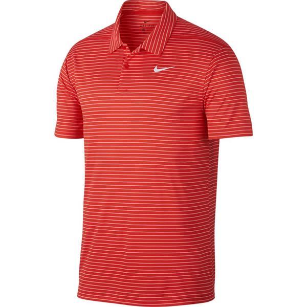 6844037e8 Nike Gents Dri Fit Essential Stripe Polo Shirt Red | Golf Store