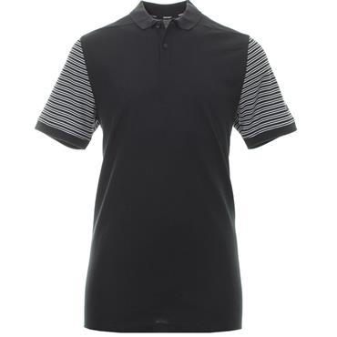 Nike Gents Dry-Fit Pique Stripe Polo Shirt Black