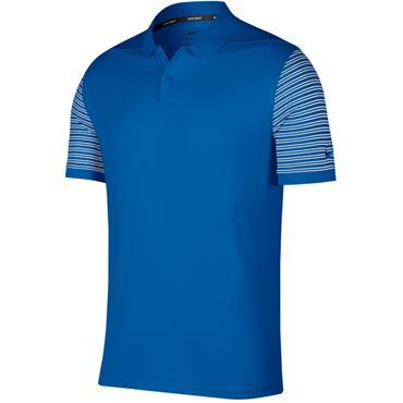 Nike Gents Dry-Fit Pique Stripe Polo Shirt Blue