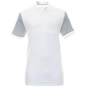 Nike Gents Dry-Fit Pique Stripe Polo Shirt White
