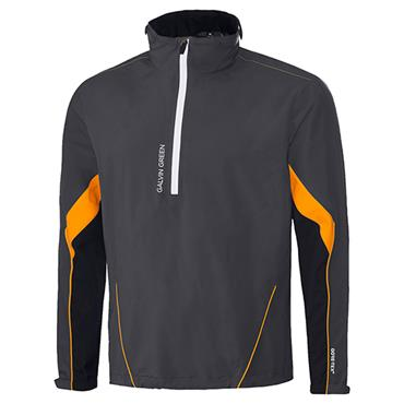 Galvin Green Gents Armando Waterproof GORE-TEX Paclite 1/2 Zip Jacket Iron Grey - Black - Orange
