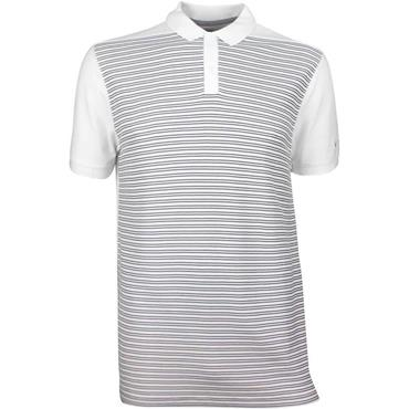 Nike Gents Dri-Fit Striped Polo Shirt White