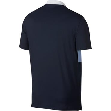 Nike Dri Vapor Colourblock Polo Shirt Indigo