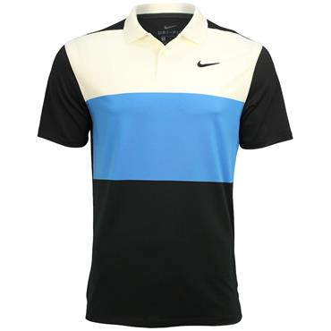 Nike Dri Vapor Colourblock Polo Shirt Sail Blue