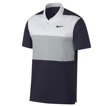 Nike Dri Vapor Colourblock Polo Shirt Sail White
