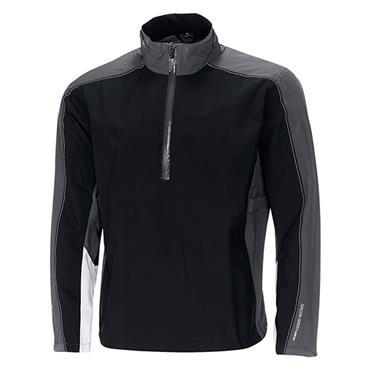 Galvin Green Gents Ayers Waterproof GORE-TEX Paclite Technology Half-Zip Jacket Black - Iron - Steel