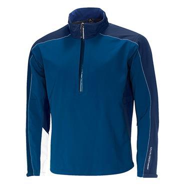 Galvin Green Gents Ayers Waterproof GORE-TEX Paclite Technology Half-Zip Jacket Navy - Blue - White