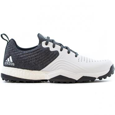 adidas Gents Adipower S4 Spikeless Golf Shoes Black - White- Silver