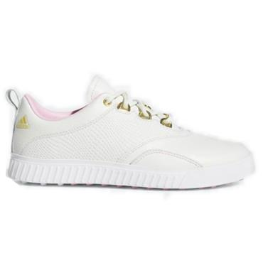 adidas Ladies Adicross PPF Golf Shoes White - Pink