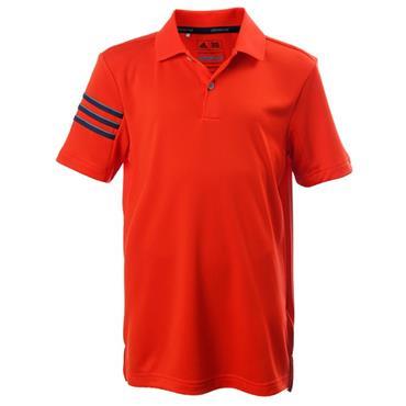 Adidas Junior - Boys Climacool 3-Stripe Polo Shirt Energy