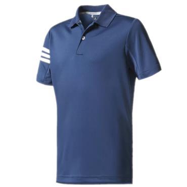 Adidas Junior - Boys 3 Stripe Polo Shirt Dark Slate