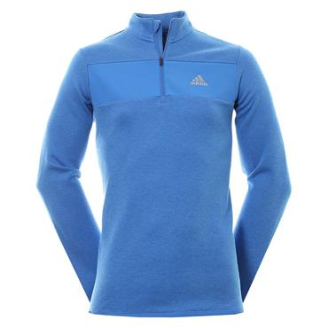 Adidas Gents Club 1/4 Zip Top Blue Melange