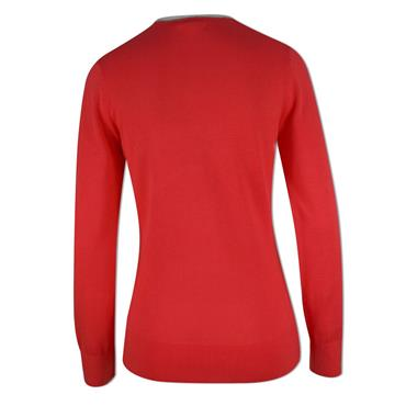Adidas Ladies V-Neck Sweater Coral Pink