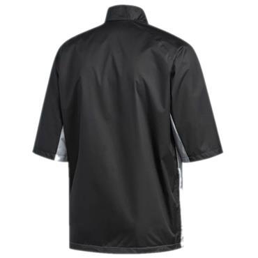 adidas Gents Short Sleeve Rain Jacket Grey - Black