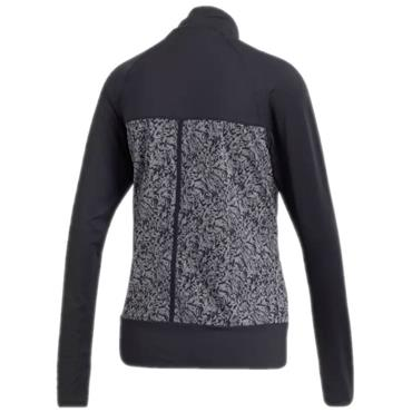 adidas Ladies Full Zip Knit Top Black - Heather