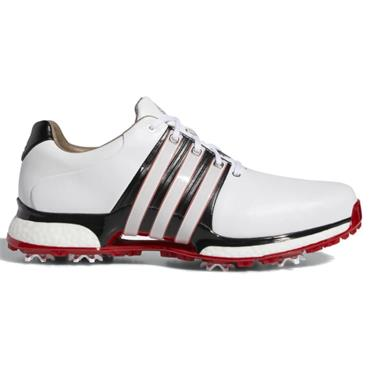adidas Gents Tour 360 XT Golf Shoes Wide Fit White - Black - Scarlet