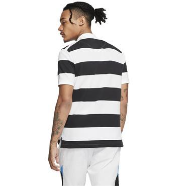 Nike Gents Slim Fit Striped Polo Black