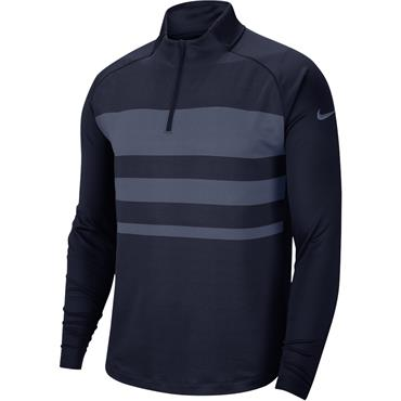 Nike Gents Dri-Fit Vapor Zip Top Obsidian