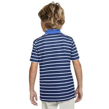Nike Junior - Boys Dri-Fit Victory Striped Polo Shirt Game Royal Blue