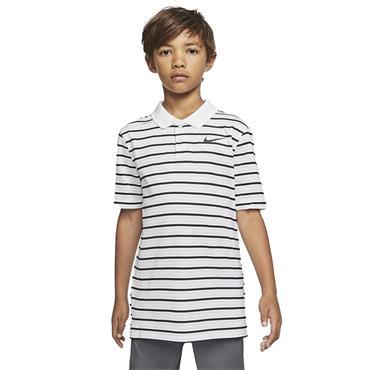 Nike Junior - Boys Dri-Fit Victory Striped Polo Shirt White