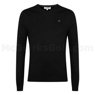 Calvin Klein Golf Gents Merino Sweater Black