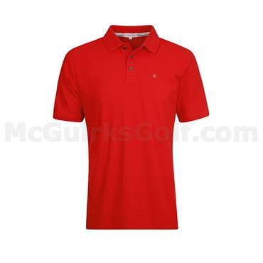 Calvin Klein Golf Gents Radical Cotton Pique Polo Red