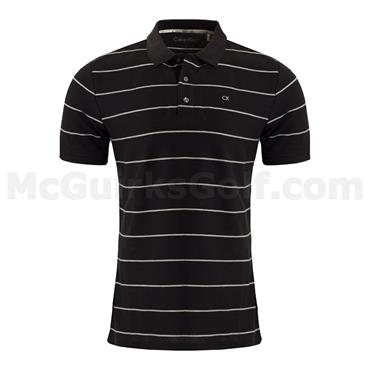 Calvin Klein Golf Gents Staten Polo Black - Silver